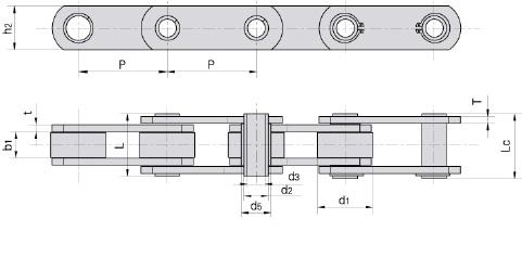 Dopravníkové reťaze s dutými čapmi séria ZC